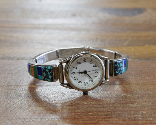 Navajo Vintage Multi-Color Inlay Watch
