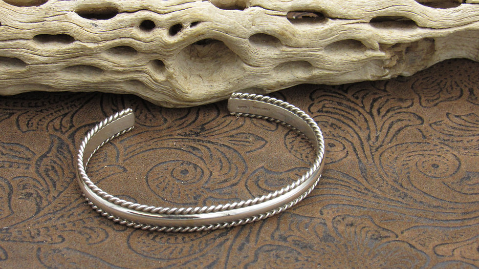 Beaded Sterling Cuff Bracelet