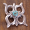 Thumbnail: Vintage Navajo Sterling Silver and Turquoise Sandcast Pin