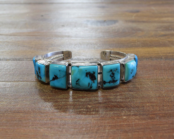 Navajo Sterling Silver and Turquoise Cuff Bracelet