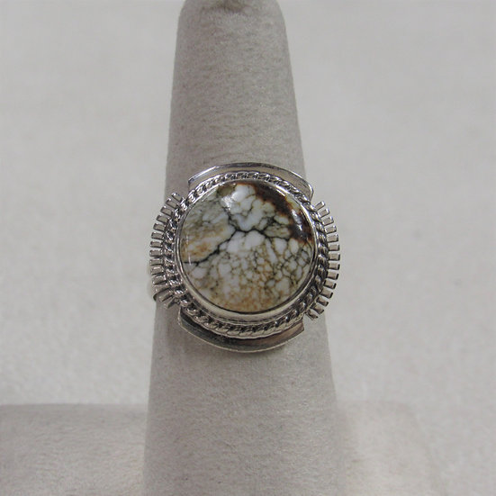 Southwest Sterling Silver and Veracite Ring by Larson L Lee