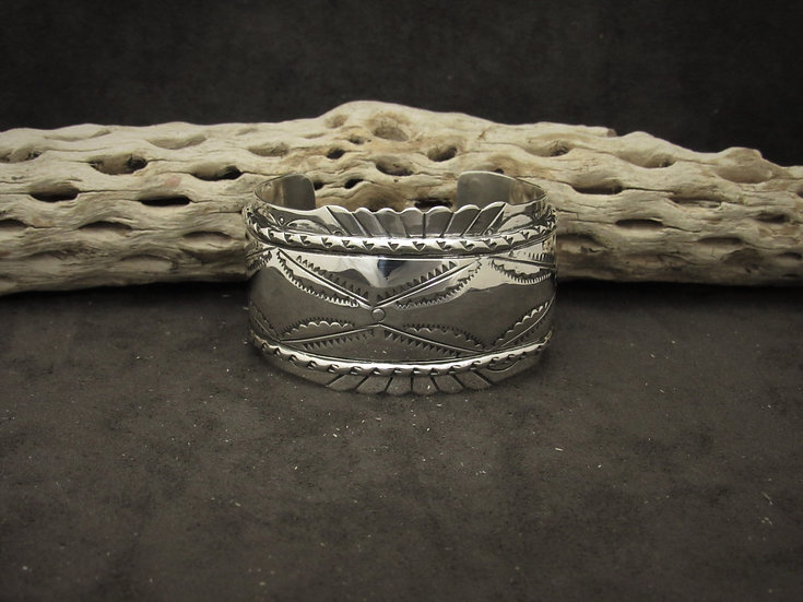 Sterling Silver Cuff Bracelet by Dave Pino