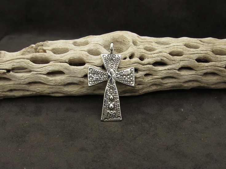 Navajo Sterling Silver Cross Pendant