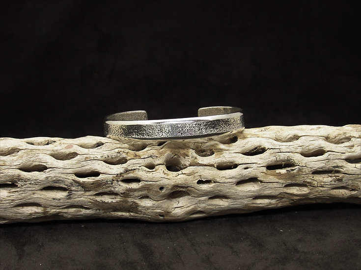 Textured Sterling Silver Cuff Bracelet