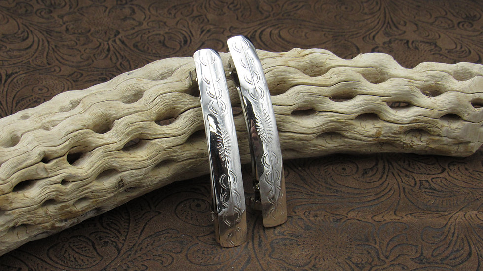Pair of Two Sterling Silver Barrettes