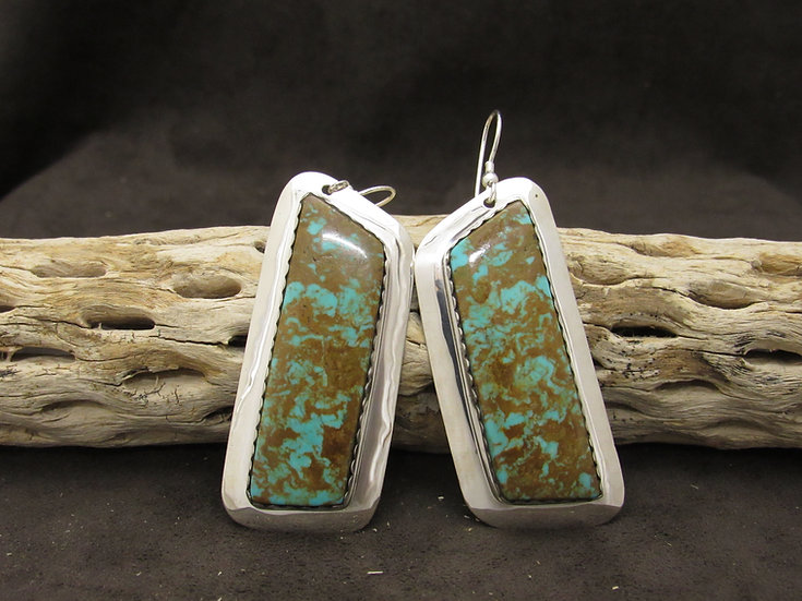 Gorgeous Sterling Silver and Turquoise Earrings