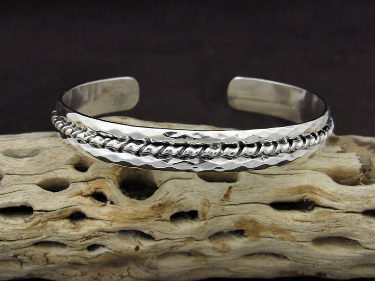 Sterling Silver Coil Cuff Bracelet