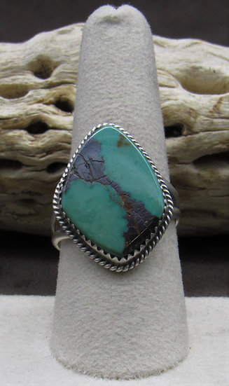 Stunning Turquoise and Sterling Silver Ring Size 9