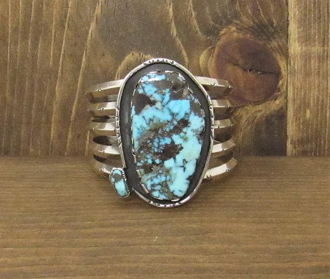 Vintage Southwestern Cuff with Large Turquoise Stone