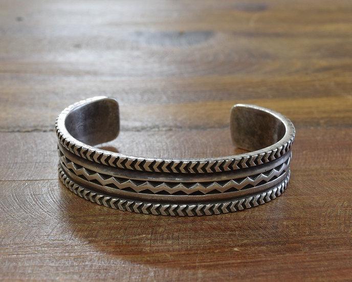 Taos Pueblo Sterling Silver Cuff Bracelet