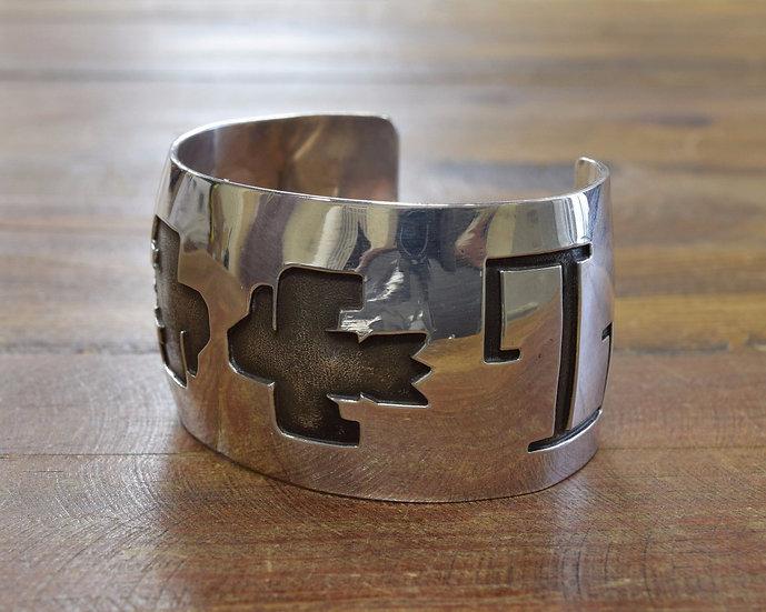 Sterling Silver Southwest Thunderbird Cuff Bracelet