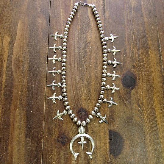 Unique Sterling Silver Squash Blossom Necklace