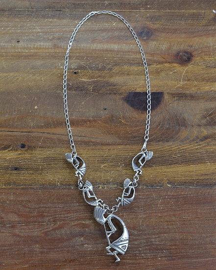 Southwestern Sterling Silver Kokopelli Necklace