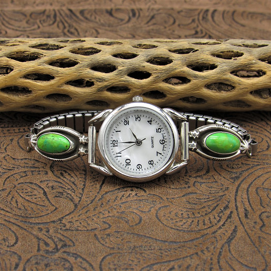 Sterling Silver Mojave Turquoise  Watch Band