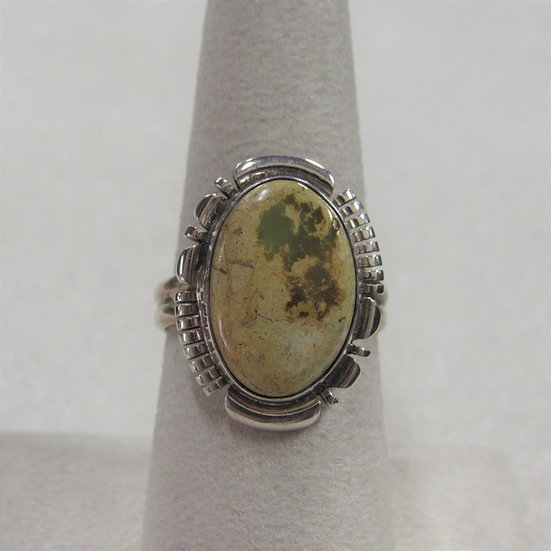 Southwest Sterling Silver and Turquoise Ring by B. Piaso Jr