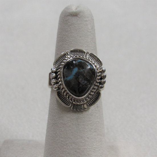 Sterling Silver and Sunnyside Turquoise Ring by Bennie Ration
