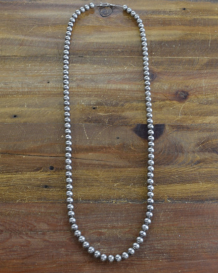 Sterling Silver Round Bead Necklace