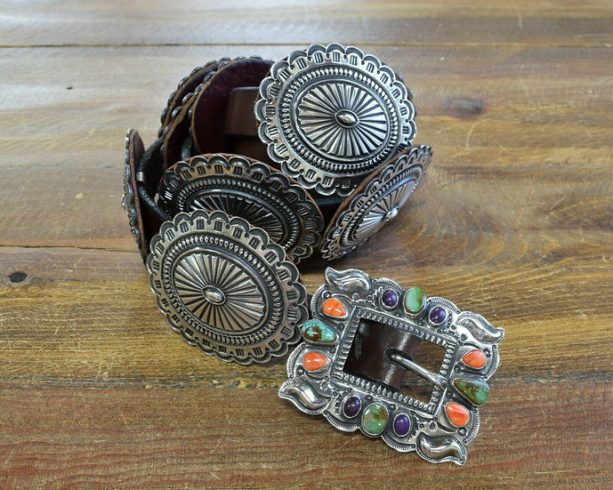 Vintage Navajo Concho Belt by Sunshine Reeves