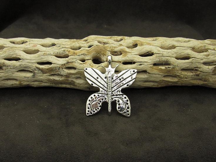 Sterling Silver Cast Butterfly Pendant