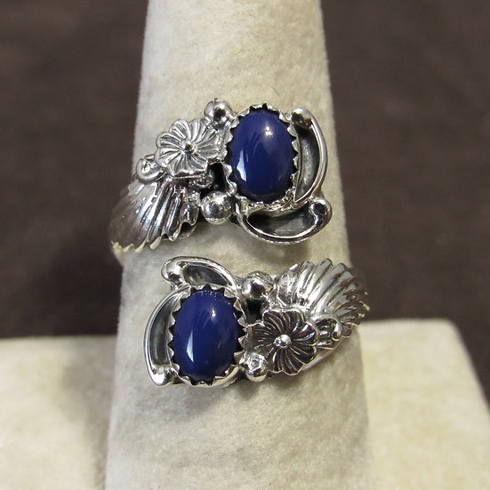 Adjustable Ladies Lapis and Sterling Silver Southwest Ring