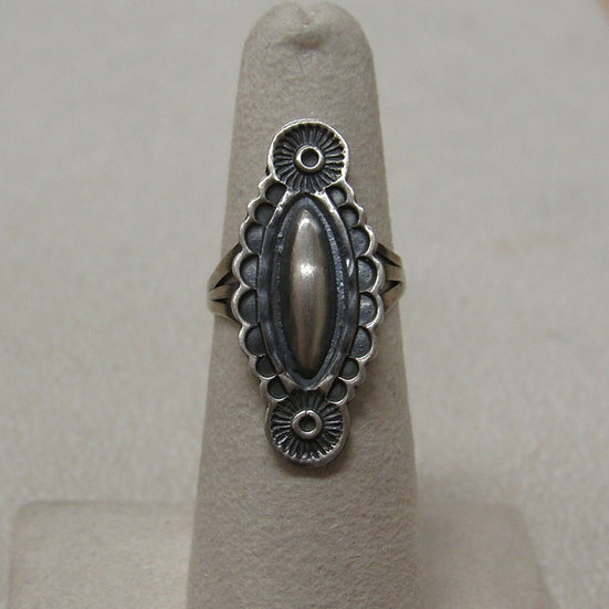 Brushed Sterling Silver Ring Size 6 1/2