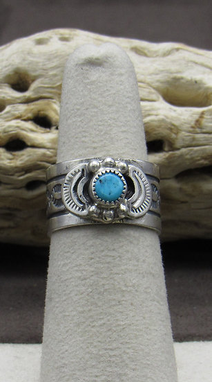 Sterling Silver and Turquoise Ring Size 5 1/2
