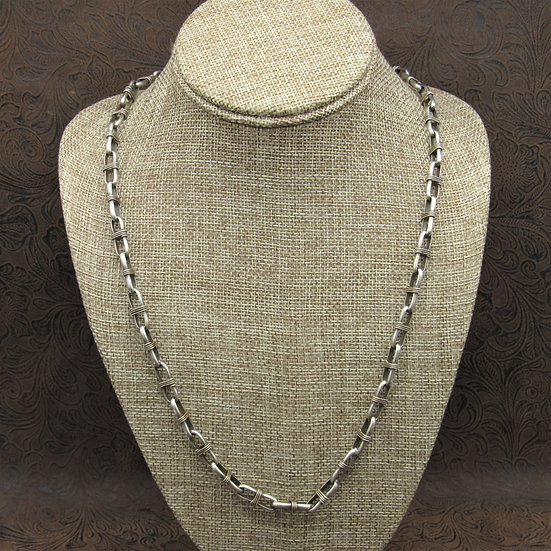 Oxidized Sterling Silver Handmade Chain Necklace