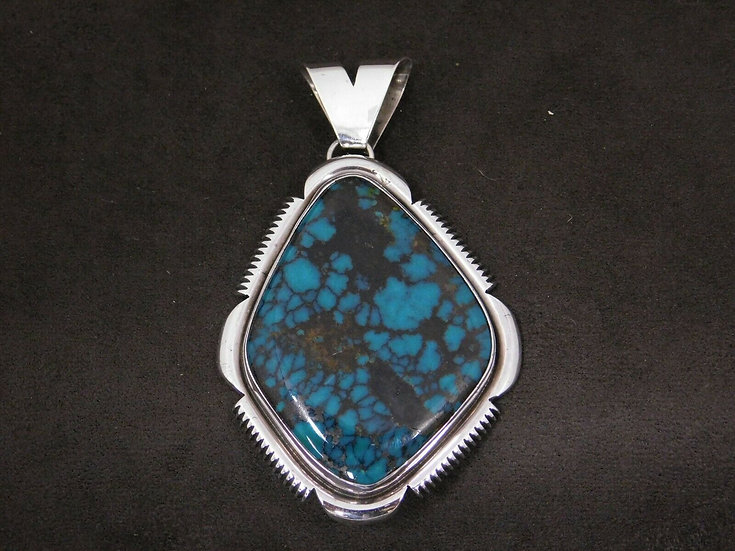 Sterling Silver Dark Turquoise Pendant