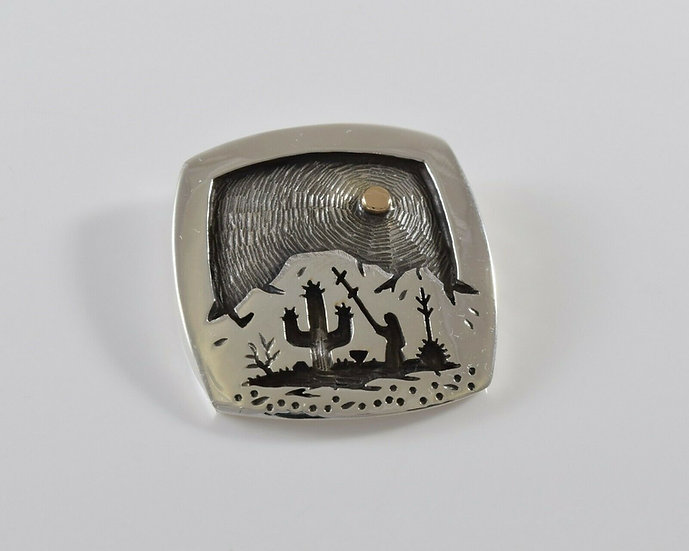 Sterling Silver and Gold Overlay Harvest Pendant by Rick Manuel