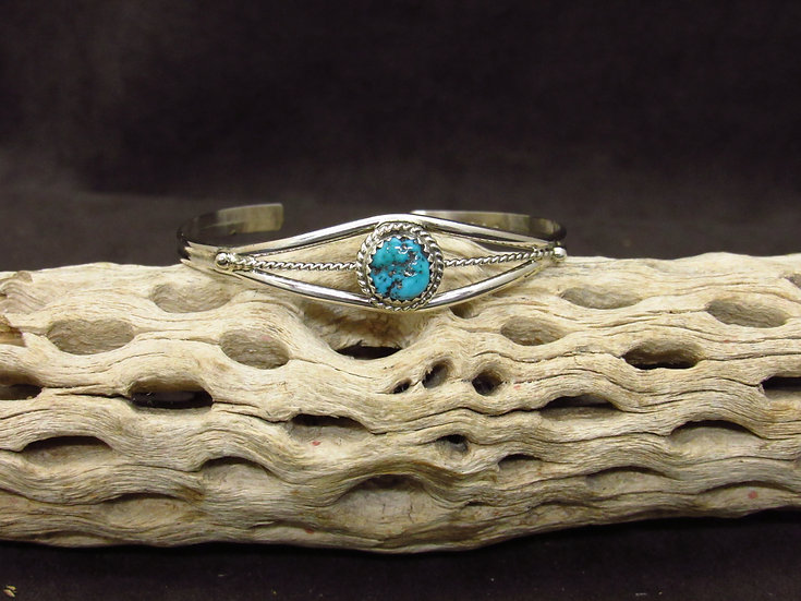 Petite Sterling Silver Turquoise Cuff Bracelet