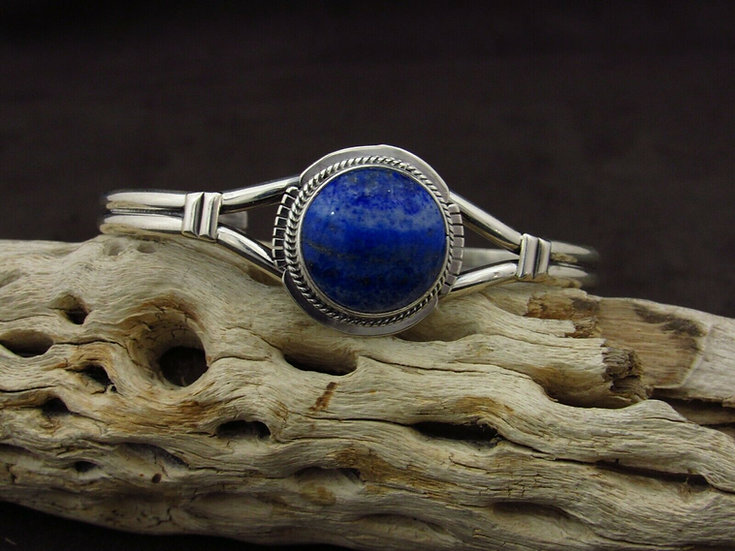 Lapis Sterling Silver Cuff Bracelet