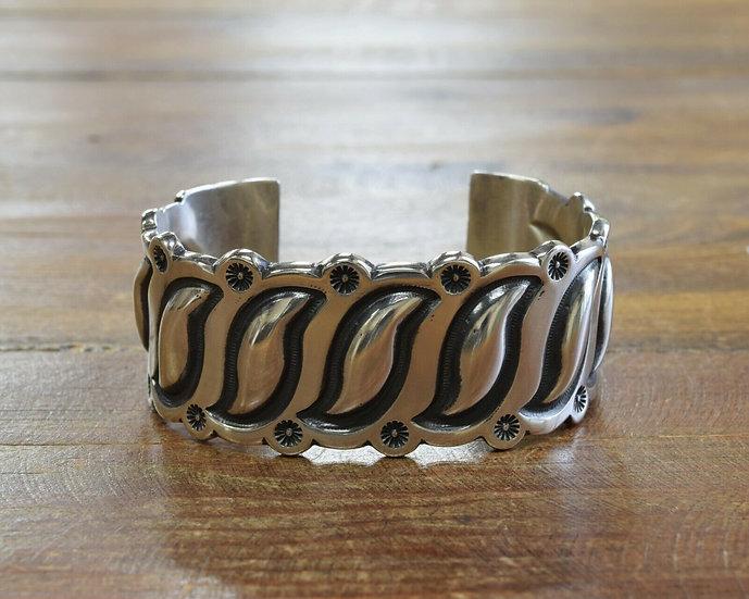 Navajo Sterling Silver Men's Cuff Bracelet by Wilson Jim