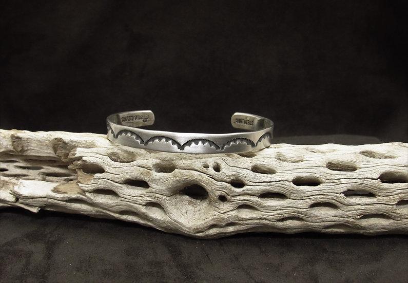 Sterling Silver Overlay Cuff Bracelet by Bill Emerson
