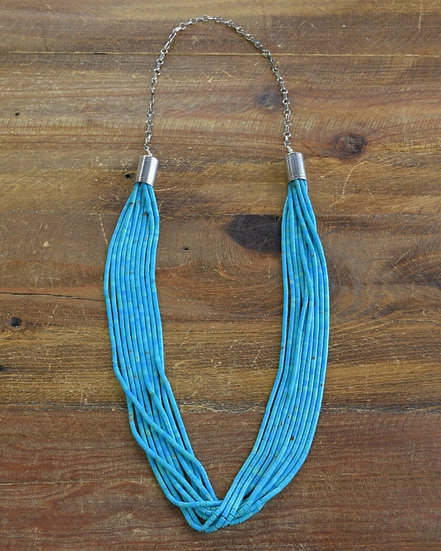 Southwestern Turquoise Sterling Silver Beaded Necklace