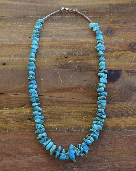 Vintage Graduated Turquoise Nugget Necklace