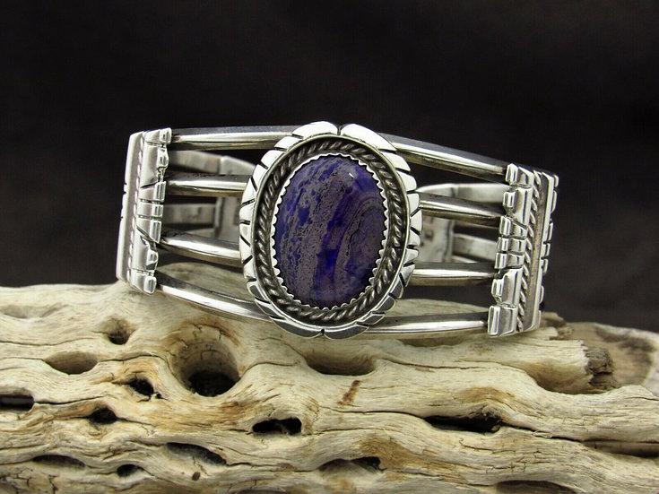 Sterling Silver Sugilite Cuff Bracelet