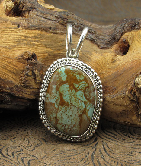 Stunning Navajo Turquoise and Sterling Silver Pendant