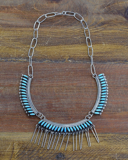 Zuni Turquoise and Sterling Silver Necklace