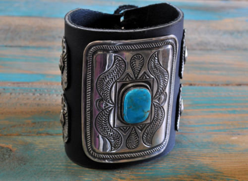 Sterling Silver and Turquoise Southwest Ketoh Bracelet