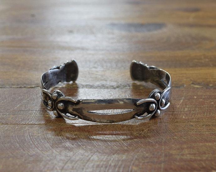 Vintage Taxco Sterling Silver Cuff Bracelet by Isidro Garcia Piña - Maricela