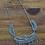 Thumbnail: Vintage Zuni Turquoise Petit Point Necklace