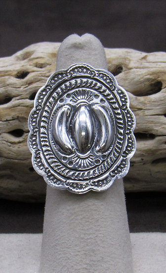 Sterling Silver Ring Made by Geraldine Yazzie Size 6 1/2