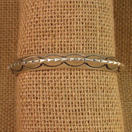 Navajo Sterling Silver Triangle Cuff Bracelet