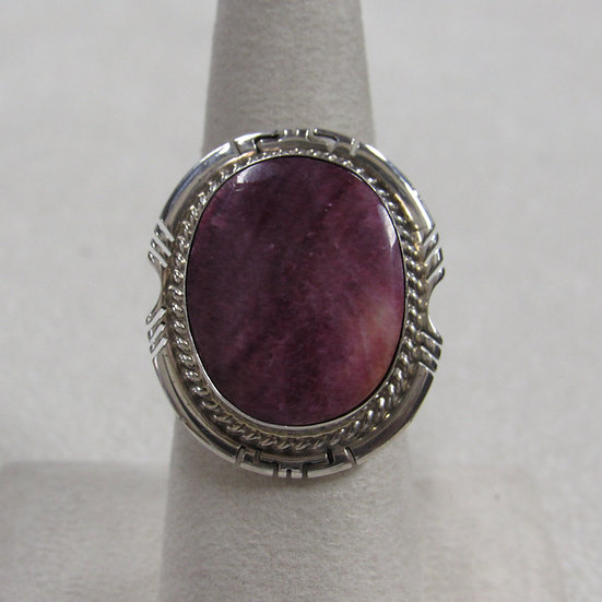 Ladies Southwest Purple Spiny Oyster Sell Sterling Silver Ring Size 8