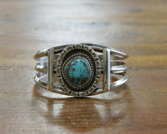 Vintage Southwestern Turquoise Cuff Bracelet