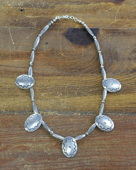 Vintage Southwestern Sterling Silver Necklace