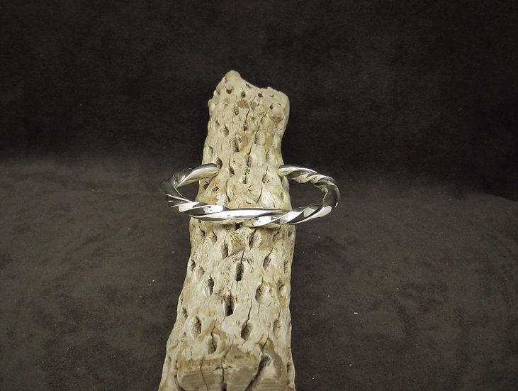Heavy Twisted Sterling Silver Wire Cuff Bracelet
