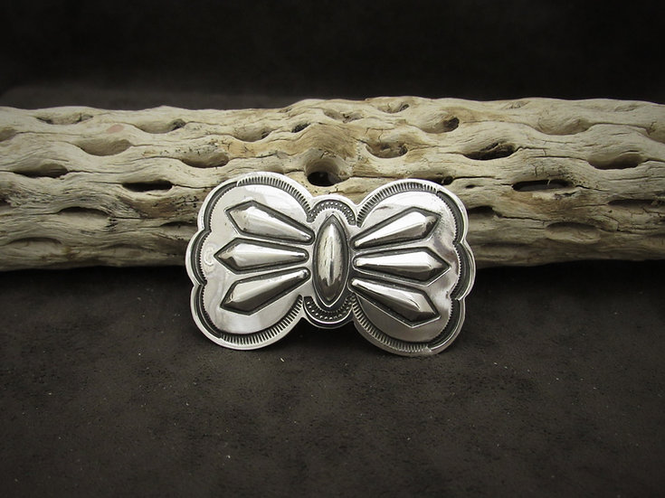 Sterling Silver Southwestern Stamped Pin