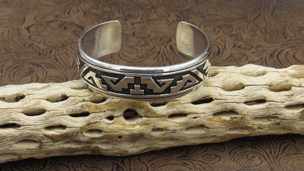Sterling Silver Overlay Cuff Bracelet by Thomas & Rose Singer