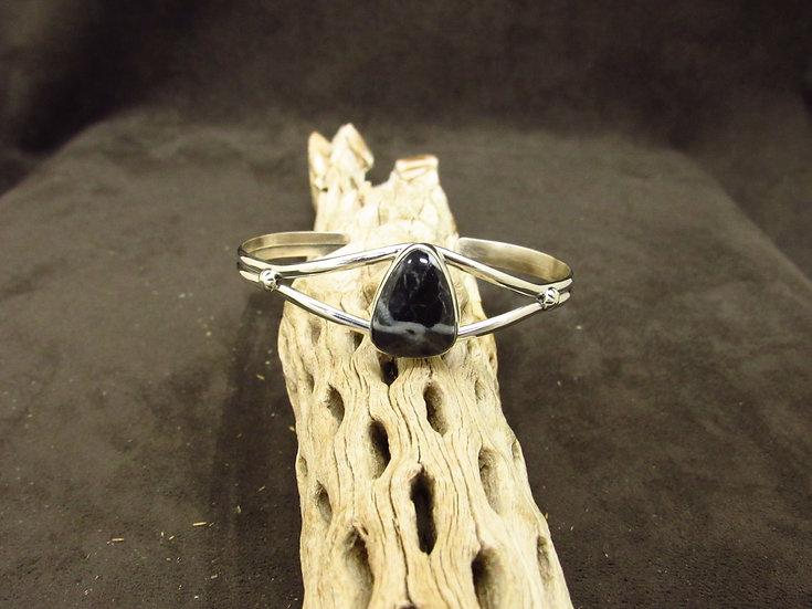Sterling Silver White Lightning Cuff Bracelet